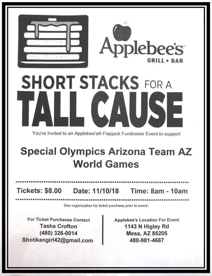 Fundraiser Applebees